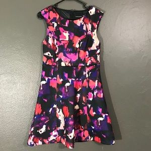 Cynthia Rowley Abstract Floral Fit and Flare